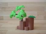 Rocher avec arbre