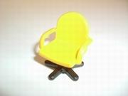 Fauteuil de bureau jaune