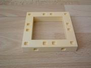 Plancher jaune creux  9 x 9 cm