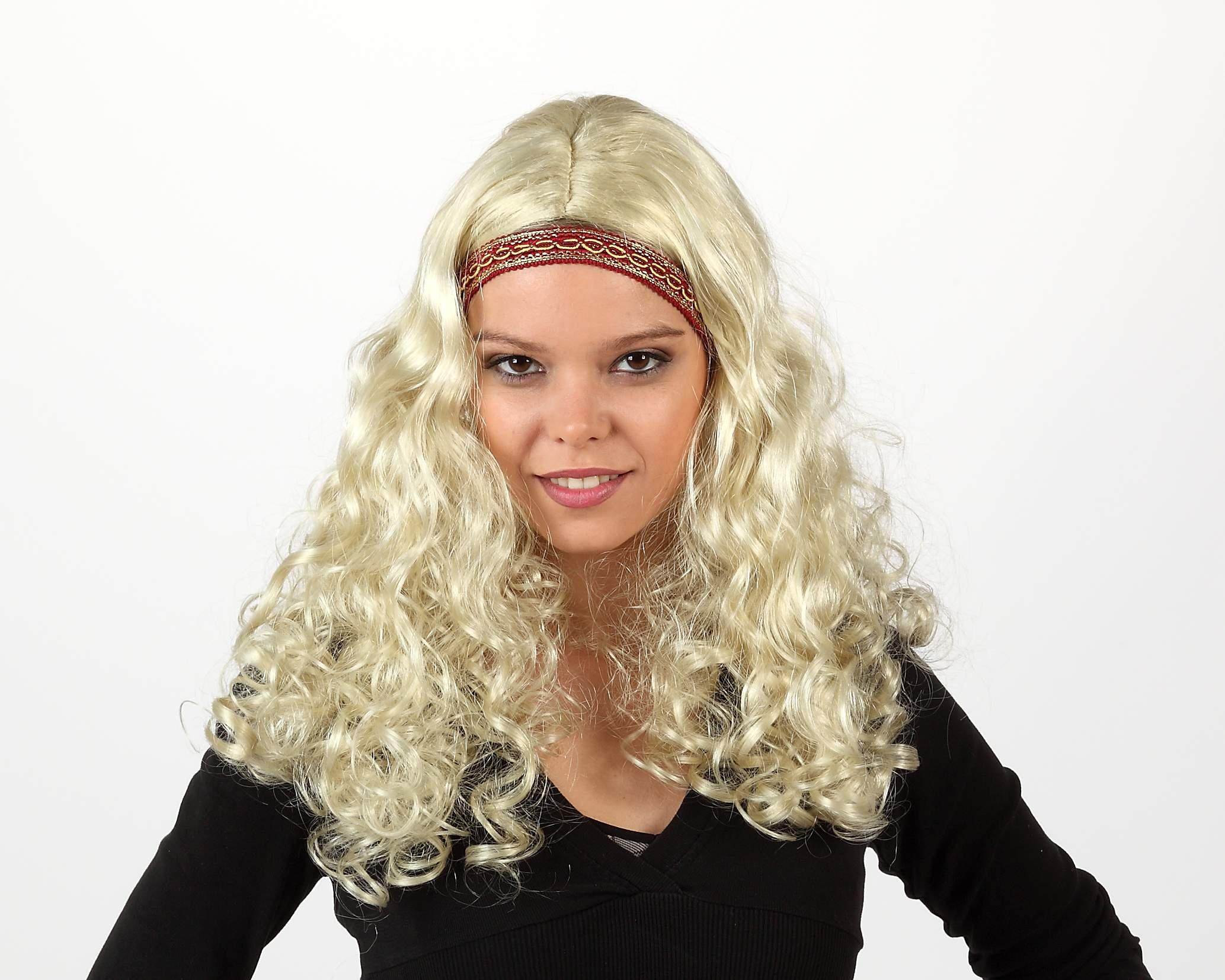 Perruque blonde bandeau