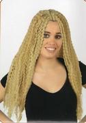 Perruque blonde cheveux longs frisés