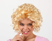 Perruque blonde courte ondulée