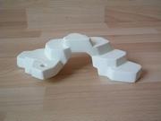 Rocher blanc plat 1 trou