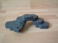Rocher anthracite plat 1 trou