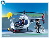 Playmobil Policiers d'intervention hélicoptère 3908