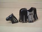 Equipement couverture et cuirasse cheval noir