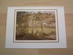 Pissarro paysage à chapouval 15 x 10 cm