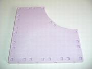 Plancher carré avec un bord arrondi
