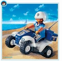 Playmobil Policier quad 3655 (boite abîmée)