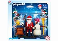 Playmobil Père Noël et bonhomme de neige 4890
