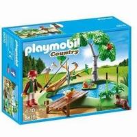 Playmobil Ilot avec pêcheur et animaux 6816
