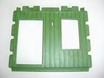 Mur vert pour porte et fenêtre