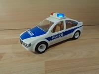 Voiture de police avec lumière