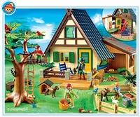Playmobil  animaux et maison forestière 4207(boite abîmée)