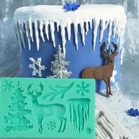 Moule décor d'hiver 11 x 7,5 cm