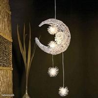 Suspension luminaire led lune et étoiles ø 40 cm