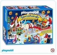 Playmobil Calendrier l'avent jeux d'hiver 3955(boite abîmée)