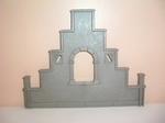 Mur de toit triangulaire gris