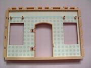 Mur deux fenêtres et porte tapisserie bleue