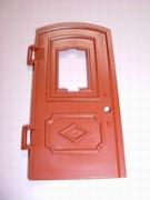 Porte d'entrée marron