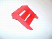 Escalier rouge roulotte