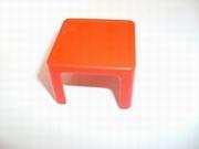 Tabouret carré rouge d'éléphant pour spectacle