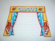 Entrée circus rideaux