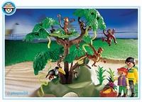 Playmobil Visiteurs et famille de singes 3238