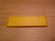 Panneau jaune horizontal