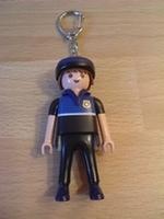 Porte clés policier cycliste Français