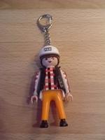Porte clés Homme casque blanc