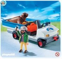 Playmobil Véhicule de transport avec phoque 4464