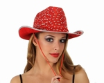 Chapeau disco rouge