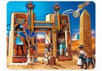 Playmobil Pharaon et pylone de temple 4243 (boite abîmée)