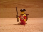 Soldat anglais avec sac à dos