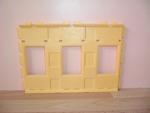 Mur jaune 3 fenêtres