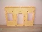 Mur jaune 2 fenêtres 1 porte