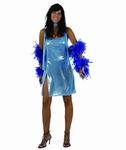 Deguisement costume Disco femme bleu