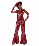 Deguisement costume Disco femme rouge