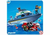 Playmobil Vedette de police et bateau de bandit 4429