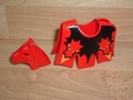 Equipement couverture et cuirasse cheval dragon rouge Neuf