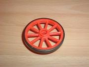 Roue rouge orangé 4,5 cm