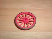 Roue rose 4,5 cm