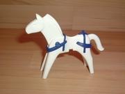 Equipement bleu pour cheval